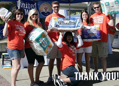 Image of 4th annual LIVE UNITED Toilet Paper Drive a big success!