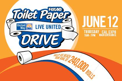 Image of United Way's 6th Annual Toilet Paper Drive