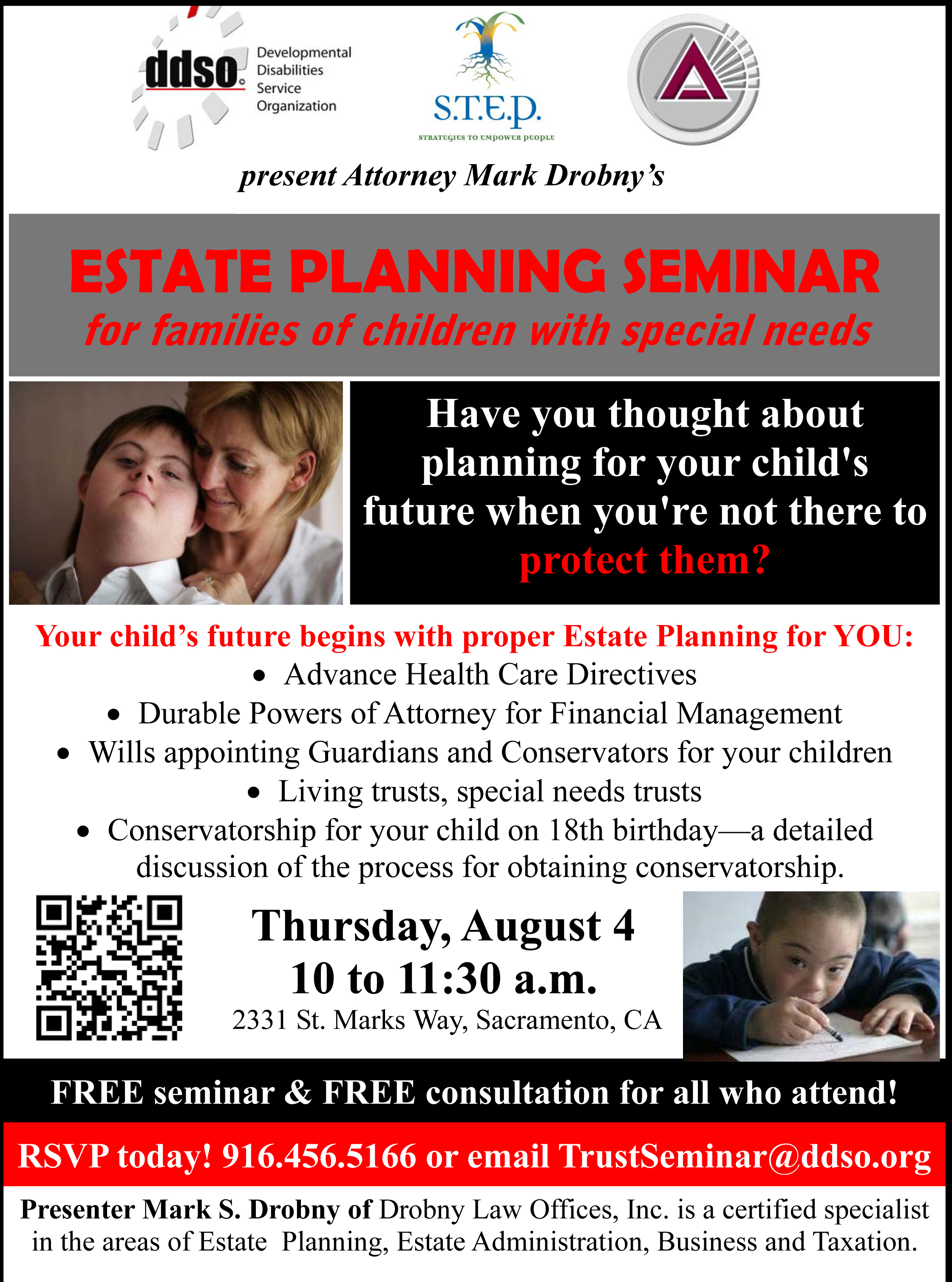 Estate Planning For Special Needs >> Ddso Special Needs Trust Seminar United Way California Capital Region