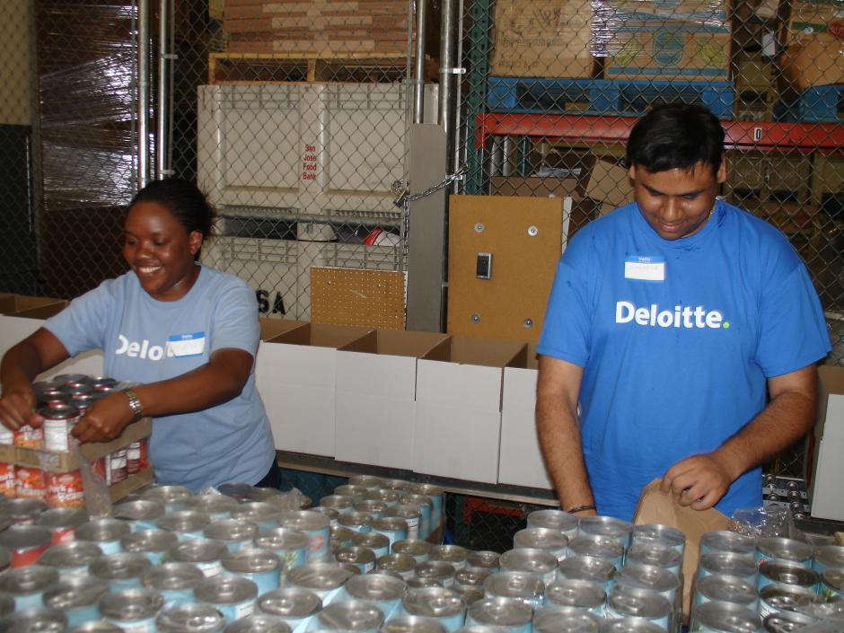 Deloitte IMPACT Day Volunteers help out at Salvation Army.