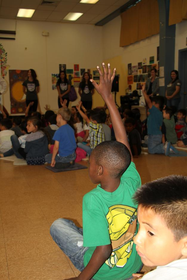Students answered trivia questions about the importance of water for special prizes