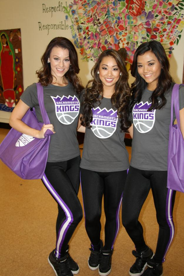 Thank you to the Sacramento Kings dancers who brought lots of fun prizes for the kids.