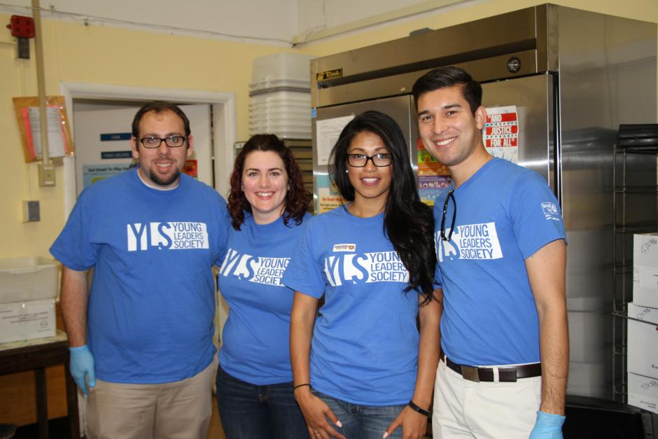 United Way's Young Leaders Society volunteers, Al, Stephanie, Siven and Alonso.
