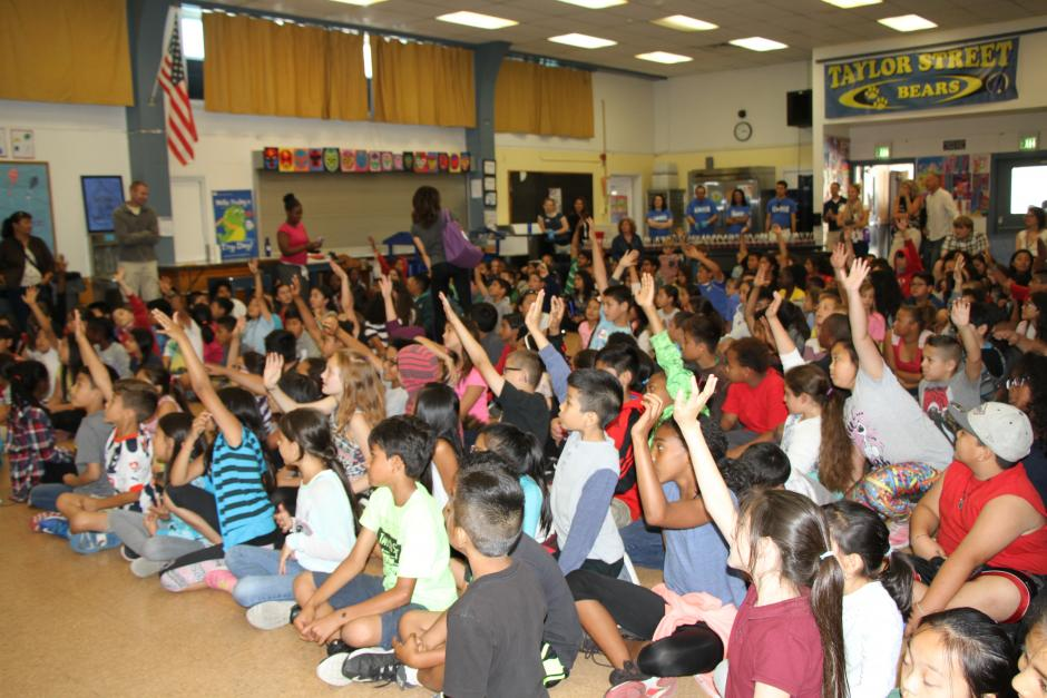 It was so fun to have all the kids so engaged at the assembly.