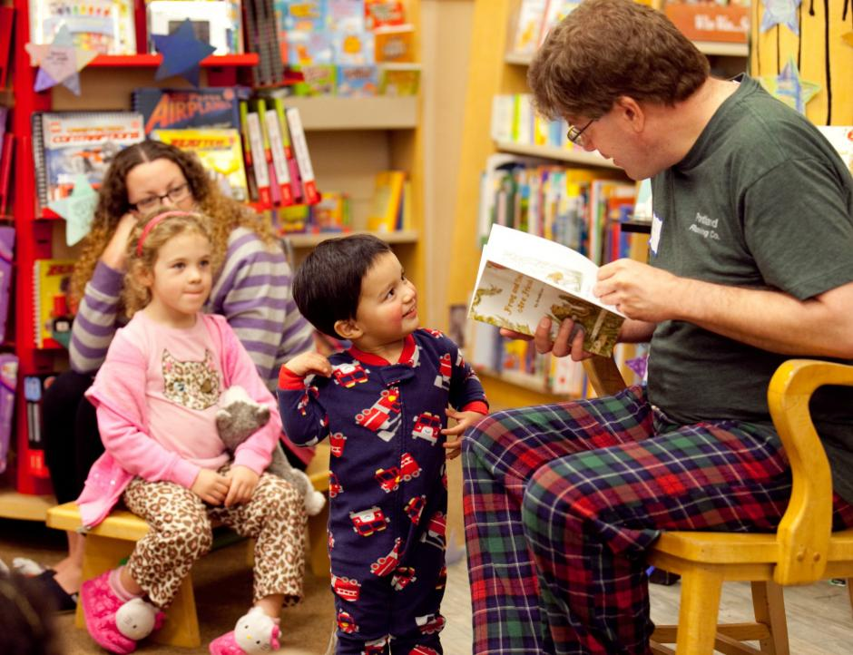 Our STAR Readers Book Drive successfully collected 660 books translating to one book for each child in the STAR Readers Project. On Feb. 27, 2013 we held our STARRY Night reading event - pajamas encouraged! Joe Michaels from KFBK is pictured and was one the night's readers.